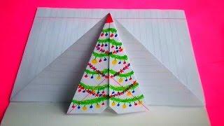 getlinkyoutube.com-оригами конверт новогодний,идеи для личного дневника (лд) #19 // origami envelope Christmas