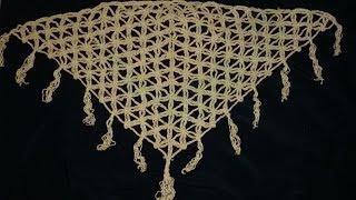 getlinkyoutube.com-شال مثلث كروشيه بغرزه زهره الحياة (crochet flower of life )