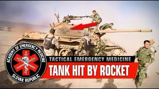 Tank hit by RPG, wounded crew. Coming in hot! / War in Iraq, Mosul offensive (Graphic content)