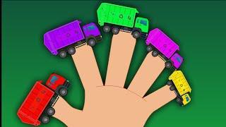 getlinkyoutube.com-Garbage Truck  Finger Family | Car Songs For Kids