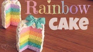 getlinkyoutube.com-RAINBOW CAKE - Polymer Clay Charm - How To - SoCraftastic