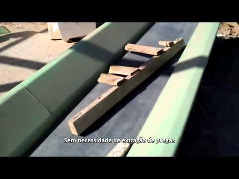 Reciclagem de Madeira com o Picador de madeira PTL 170 / 250 x 400