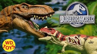 getlinkyoutube.com-JURASSIC WORLD GROWLER CERATOSAURUS 2015 With T-Rex, Tyrannosaurus Rex Unboxing, Review By WD Toys