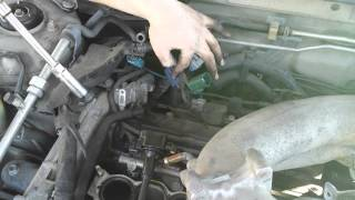 getlinkyoutube.com-V6 Nissan Maxima coil pack spark plug replacement
