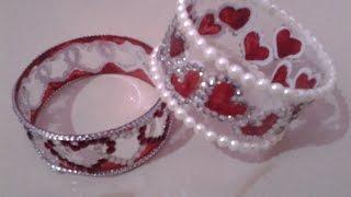 getlinkyoutube.com-Best Out Of Waste Plastic Bottle Lovely Heart Bracelets