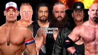 getlinkyoutube.com-John Cena v Brock Lesnar v Roman Reigns v Braun Strowman v The Undertaker v Goldberg   WWE 2K17 ELIM