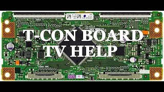 getlinkyoutube.com-LCD TV Repair Tutorial - T-Con Board Common Symptoms & Solutions - How to Replace T-Con Board