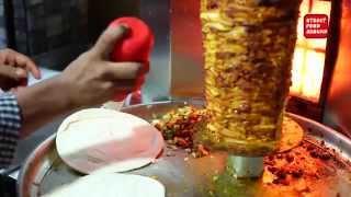 getlinkyoutube.com-Saudi Arabian Street Food Shawarma | street food around hyderabad