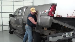 getlinkyoutube.com-Pt.1 2007 Chevy Pickup Fuel Pump Replacement At D-Ray's Shop