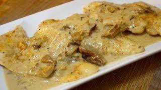 getlinkyoutube.com-Creamy Mushroom Cheesy Chicken - Cooked by Julie - Episode 92