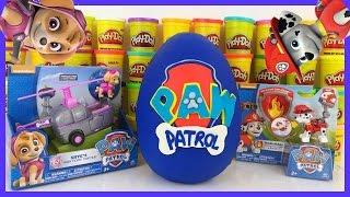 Huge Paw Patrol Play Doh Surprise Egg Skye Marshall Shopkins MLP Angry Birds Blind Bags!