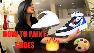 getlinkyoutube.com-How To Paint Your Shoes Tutorial: Restore And Customize With Angelus Paint! FULL Timelapse