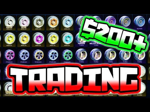 TRADING ALL OF MY PAINTED WHEELS IN ROCKET LEAGUE!!