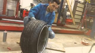 getlinkyoutube.com-EXTREME tyrestretch 205 40 on 17x10 10j DIY