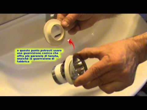 Come sostituire la piletta di scarico di un lavabo fai da te mania - Guarnizione scarico lavandino cucina ...