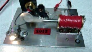 getlinkyoutube.com-Solenoid Magnet Engine Electric Motor ®