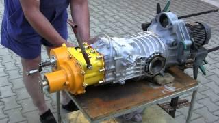 getlinkyoutube.com-VW T3 Syncro - převodovka zadek