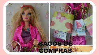 getlinkyoutube.com-Como fazer sacos de compras para Barbie e outras bonecas