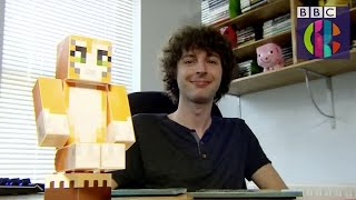 getlinkyoutube.com-Stampy in real life Minecraft Interview on Dick and Dom's Appsolute Genius CBBC