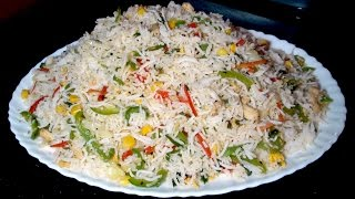 getlinkyoutube.com-Vegetable Fried Rice Recipe - Fried Rice Restaurant Style - Chinese Fry Rice Recipe