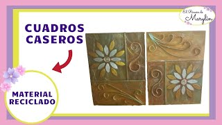 getlinkyoutube.com-CUADROS DECORATIVOS  (RECICLANDO CARTON Y PAPEL)
