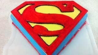 getlinkyoutube.com-Superman | Man Of Steel Cake (How To)