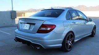 getlinkyoutube.com-Mercedes C250 W204 quad exhaust sound. Magnaflow