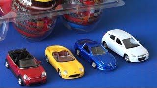 getlinkyoutube.com-Машинки Welly. Сюрпризы для детей. Surprise Eggs Cars Welly Kinder Toys