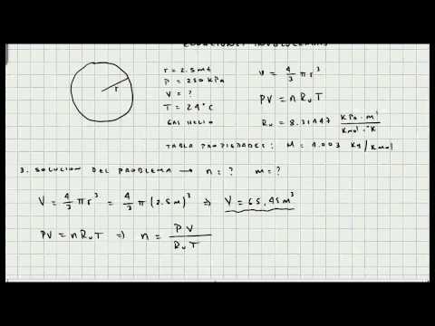 Ejercicio Ecuacion de Estado Gas Ideal - Termodinamica - Video 055