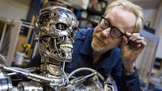 getlinkyoutube.com-Adam Savage's Terminator T-800 Endoskeleton