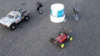 losi mini 8ight and traxxas slash 4x4 speed runs