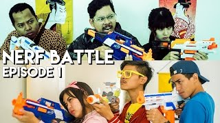 getlinkyoutube.com-NERF BATTLE EPISODE 1 ft. Aulion, Ardinhai, Dhinoharyoo, Usama, Cindythefannie!
