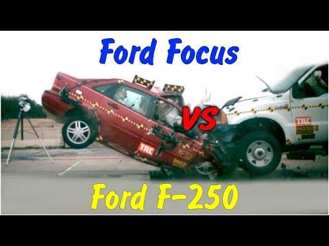 Новые краш тесты Ford Focus Vs Ford F 250