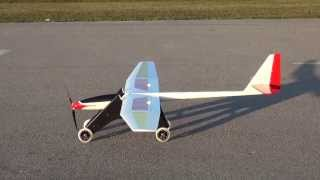 getlinkyoutube.com-Mystique 2.9 First Flight and Landing (Dolly Launcher)