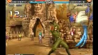 getlinkyoutube.com-KOF 2002 UM '97 Kim & Masters Team death combo movie