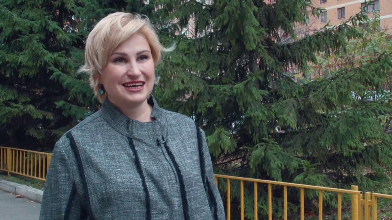 Член ОПМО Орлова И.А. рассказывает о волонтерском движениии