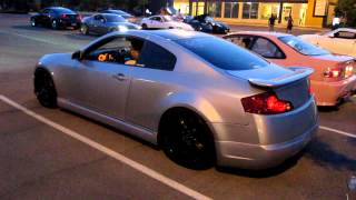 getlinkyoutube.com-Twin Turbo G35 Coupe Revving and Acceleration