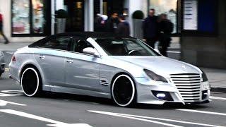 getlinkyoutube.com-Supercars in London - March 2015 (Blue Enzo, SLS Black-Series, custom Aventadors, SLR)