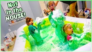 getlinkyoutube.com-😁 500 POUNDS OF FLUFFY PUFFY SLIME CHALLENGE! 😁