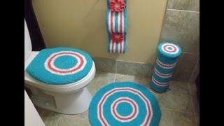 getlinkyoutube.com-Crochet Bathroom set Part  1 of 4