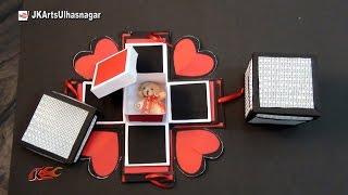 getlinkyoutube.com-DIY Explosion Box /  Exploding Love Box Tutorial   How to make Scrapbook   JK Arts 1007