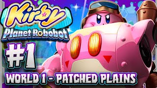 getlinkyoutube.com-Kirby Planet Robobot 3DS Part 1: World 1 - Patched Plains & GIVEAWAY