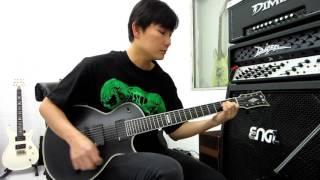 กีตาร์ไฟฟ้า 7 สาย ESP E-II Eclipse 7 Black Satin 7 String Guitar width=