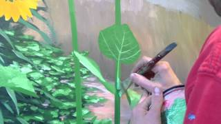 getlinkyoutube.com-How To Paint Foliage 2 - Mural Joe