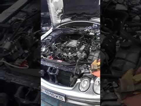 Mercedes w211 e320 М112 первый запуск после гильзовки
