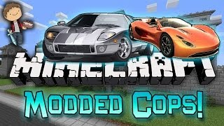 getlinkyoutube.com-Minecraft: Modded Cops n' Robbers! w/Mitch & Friends - Car Mod!