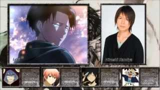 [Attack on Titan] All Characters and Voice Actors[Shingeki no Kyojin]進撃の巨人 声優