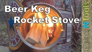 getlinkyoutube.com-DIY The Beer Keg Rocket Stove The Coolest Stove on YouTube