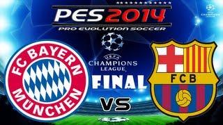 getlinkyoutube.com-PES 2014 UEFA Champions League FINAL FC Bayern Munchen vs FC Barcelona