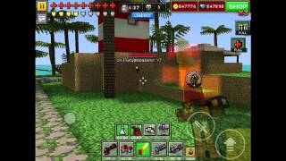 getlinkyoutube.com-Pixel Gun 3D: Turret Glitch [Map Paradise Resort]